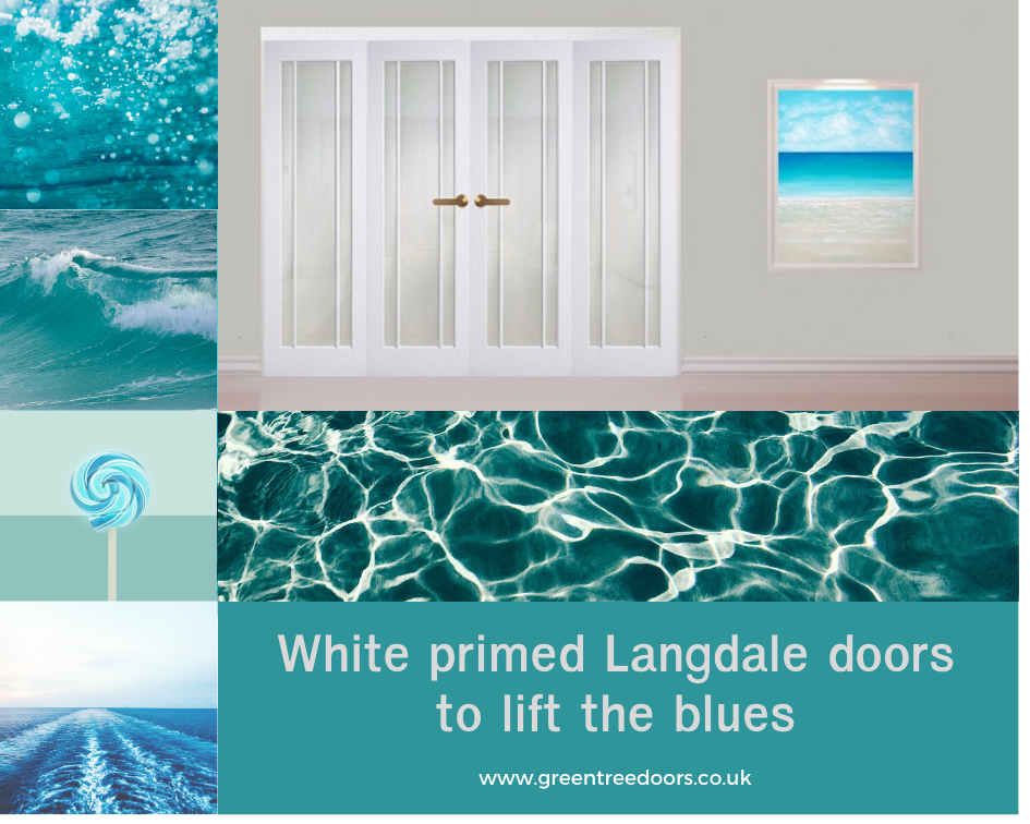 White Langdale Frosted Glass Moodboard